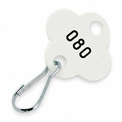 Shamrock Tags, White, 201-300, PK 100