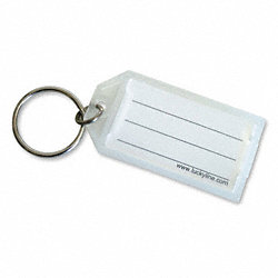 ID Key Tags with Flap, Clear, PK 10