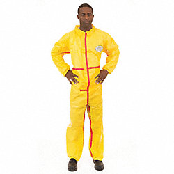 Chemsplash 1(R), Yellow, Elastic, 4XL, PK 6