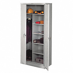 Combination Storage Cabinet, Light Gray