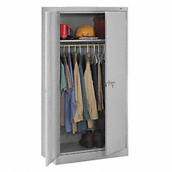 Wardrobe Storage Cabinet, Welded, Gry