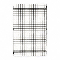 Wire Partition Panel, H 4 Ft, W 8 Ft, 8 Ga
