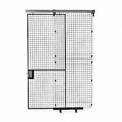 Wire Partition Slide Door, H 8 Ft, W 4 Ft