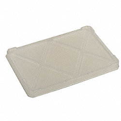 Tote Box Lid, L 16 1/2, W 10 7/8, Clear