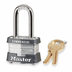Non Rekeyable Padlock, Steel, KD
