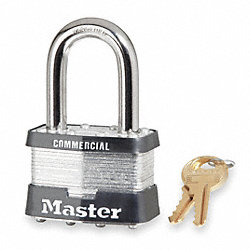 Non Rekeyable Padlock, Steel, Key No.A1010