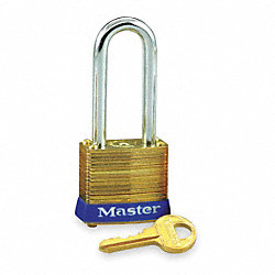 Non Rekeyable Padlock, Brass, KD