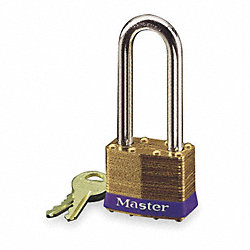 Non Rekeyable Padlock, BrassKey No.0505