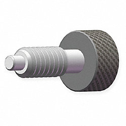 Metal Knob Plunger, 0.75 In, 3/8-16, 0.22