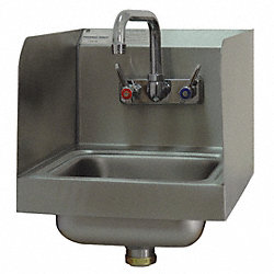 Space Saver Sink with Splash Guard