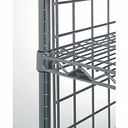 Wire Shelf, Steel, 250 lb. Shelf Cap.