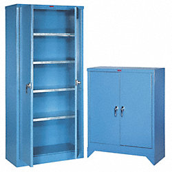 Storage Cabinet, 42x36x18In, Blue