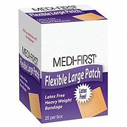 Adhesive Bandage, Flex HD, Patch, PK 25