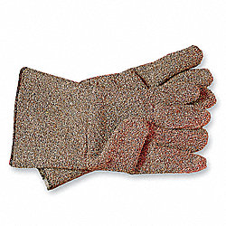 Heat Resistant Gloves, Brown/White, XL, PR