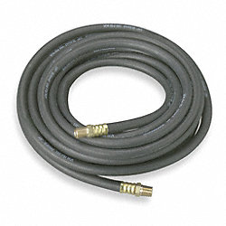 Hose, Air, 3/4 In IDx3/4 NPT, 25 Ft, Black