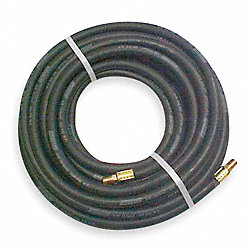 Hose, Air, 3/8 In IDx3/8 NPT, 50 Ft, Black
