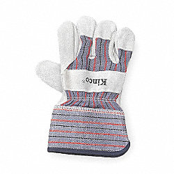 Leather Palm Gloves, Gray, Youth, PR