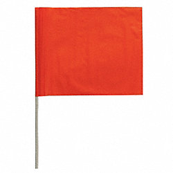 Marking Flag, Orange, Blank, PVC, PK100