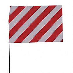 Marking Flag, Red/White, Vinyl, PK100