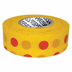 Flagging Tape, Yellow/Red, 300ft x 1-3/8In