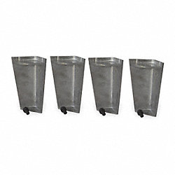 Leg Kit, Aluminum, For 3JWR7 & 3JWU2