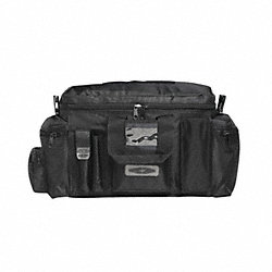Tactical Duty Bag, Blk, Nylon, 9x24x12 In