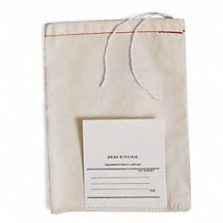 Drawstring Mailing Bag w/Tag, 5x3in, PK100