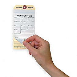 Inspection Tag, Cardstock, Scrap, PK100