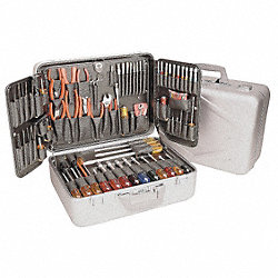 Electronics Tool Set, 89 Pc, Attache Case