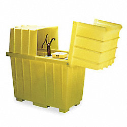 Covered Drum Spill Containment, 64 in. H