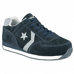 Athletic Work Shoes, Stl, Wmn, 9, Navy, 1PR