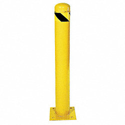 Safety Bollard, H42In, Dia 4 1/2In, Yellow