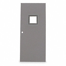 Metal Door With Glass, Type 1, 84 x 32 In