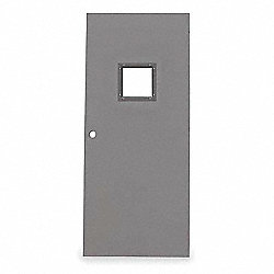 Vision Light Steel Door, 80x30 In, 16 ga