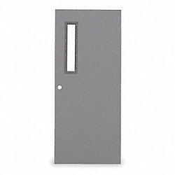 Metal Door With Glass, Type 3, 84 x 36 In
