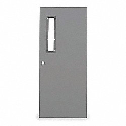 Narrow Light Steel Door, 84x36 In, 16 ga