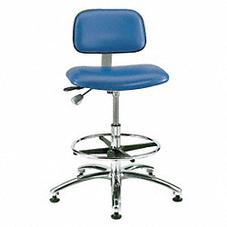Cleanroom Pneumatic Task Chair, 300 lb.