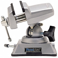 Swivel Vacuum Base Vise, 2 1/2 In