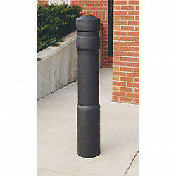 Bollard Deco, 52 In H, 6 In Dia, Black