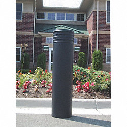 Bollard Cinco, 49 In H, 10 In Dia, Black