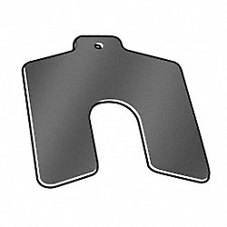Slotted Shim, Tab, B, 0.0050 In, PK20
