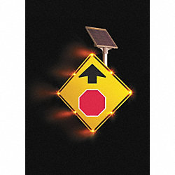 Traffic Sign, 36 x 36In, R and BK/YEL, SYM