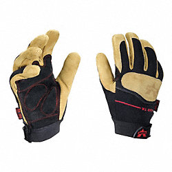 Anti-Vibration Gloves, L, Tan/Black, PR