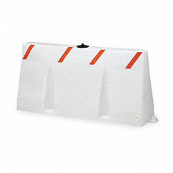 Polycade Traffic Barrier, White, 35 In. H