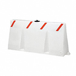 Polycade Traffic Barrier, White, 24 In. H