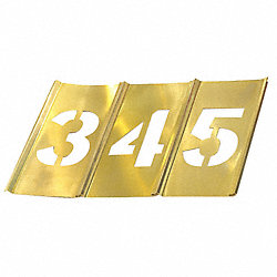 Stencil Set, Numbers, Brass