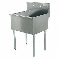 Utility  Sink, 16ga, Single, SS, Floor Mount