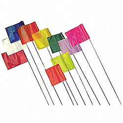 Marking Flag, Yellow, Blank, PVC, PK100