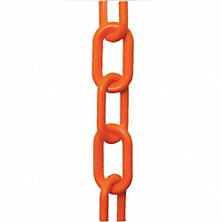 Plastic Chain, Fluor Orange, 2 in x 106 In