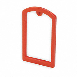Label Pocket Frame, Pocket Recess, Red